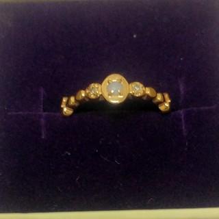 アガット(agete)のアガット K10 ダイヤ付き オパールリング agete(リング(指輪))