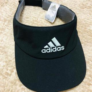 adidas - adidasの黒のサンバイザー