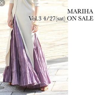 デミルクスビームス(Demi-Luxe BEAMS)のMariha 草原の虹のスカート パープル マリハ(ロングスカート)