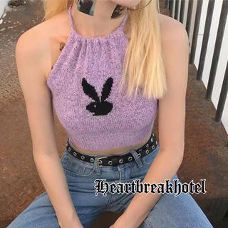 ♡ Playboy Rabbit knitted tanktop(タンクトップ)