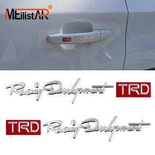 トヨタ(トヨタ)の最新トヨタTRDステッカー シルバー 立体筆記体タイプロゴエンブレムモデリスタ(車外アクセサリ)