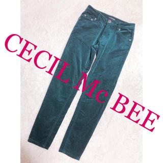 セシルマクビー(CECIL McBEE)の511.CECIL Mc BEE コーデュロイ モスグリーン ストレートパンツ (カジュアルパンツ)