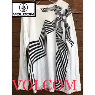 ボルコム(volcom)の訳アリ古着 VOLCOM ロンt サーフィン ボーダーに 長袖 かっこいいです!(Tシャツ/カットソー(七分/長袖))