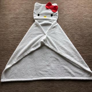 シマムラ(しまむら)の新品 完売 しまむら サンリオ キティ フード付きブランケット ポンチョ 毛布 (キャラクターグッズ)