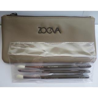 セフォラ(Sephora)の日本未入荷 ZOEVA アイメイク化粧筆3本&ポーチ新品(その他)