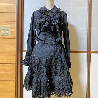ジェーンマープル(JaneMarple)のjane marple 3点セット シャツ スカート 付け襟(セット/コーデ)