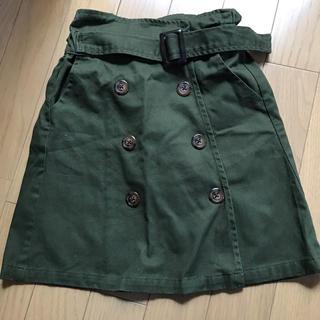 プティマイン(petit main)のカーキ スカート フタフタ(スカート)