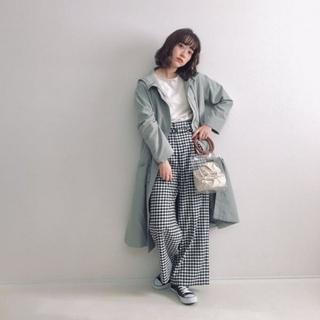 ジーユー(GU)のお値下げしました☆gu☆ドローストリングフーデッドコート☆インスタ☆wear(スプリングコート)