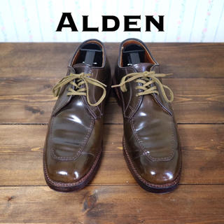 オールデン(Alden)の激レア! シガーコードバン 5 1/2 オールソール済み(ドレス/ビジネス)