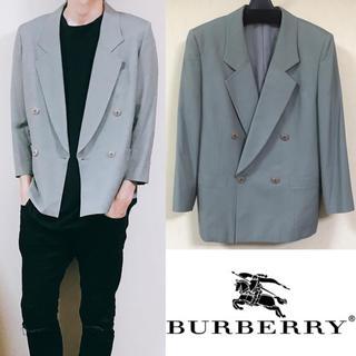 バーバリー(BURBERRY)のBurberry バーバリー ダブルジャケット スーツ ワイドシルエット(スーツジャケット)