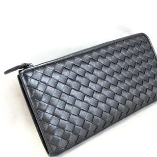 1f1aba81ac40 ボッテガヴェネタ(Bottega Veneta)のボッテガヴェネタ 長財布 ウォレット 355262 ブラック メタル(