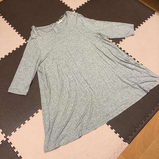 ジーユー(GU)のgu Lサイズ 大きいサイズ チェニック 七分袖(Tシャツ(長袖/七分))