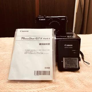 キヤノン(Canon)の【美品】Canon G7X マークⅡ+おまけ(コンパクトデジタルカメラ)