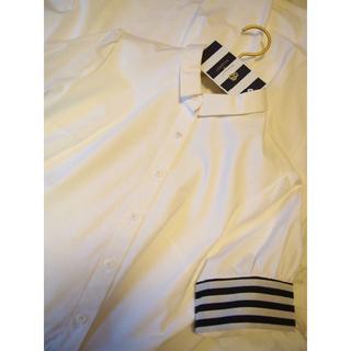 ドゥロワー(Drawer)のボーダーズアットバルコニー☆シャツドレス☆ワンピース☆タグ付き新品38白(ロングワンピース/マキシワンピース)