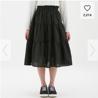 ジーユー(GU)の新品 GU ティアードスカート ガールズ(スカート)