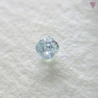 み~かん様 0.045 ct F. GRN-SH BLUE 天然 ダイヤ(リング(指輪))