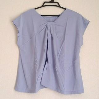 ジーユー(GU)のUNIQLO カットソー(パープル)(Tシャツ(半袖/袖なし))