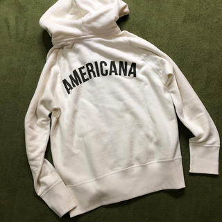 アメリカーナ(AMERICANA)のamericana  ジップパーカー(パーカー)