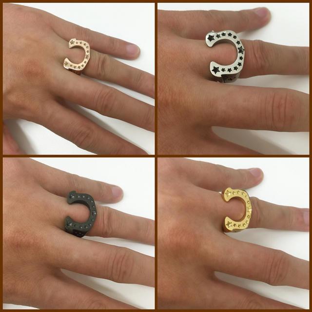ホースシューリング 指輪 メンズのアクセサリー(リング(指輪))の商品写真