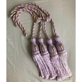 カーテンロープ 紫のタッセル インテリア(インテリア雑貨)