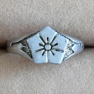 (33)桔梗? お花の家紋のようなモチーフリング シルバー(リング(指輪))