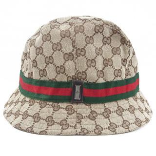 5a9385409b3f グッチ(Gucci)のグッチ GUCCI ハット 帽子 GG柄 シェリーライン バケットハット M
