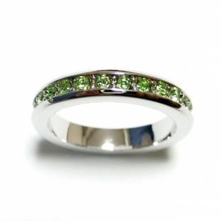 21号 スワロフスキー フルエタニティ ペリドット シルバーリング(リング(指輪))