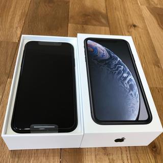アイフォーン(iPhone)のiPhone XR 128GB ブラック(スマートフォン本体)