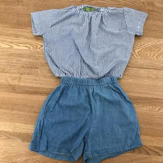 シマムラ(しまむら)のしまむら トップス ズボン 90 セットアップ(Tシャツ/カットソー)