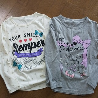 シマムラ(しまむら)のしまむら おまとめ2枚ロングTシャツ(Tシャツ/カットソー)