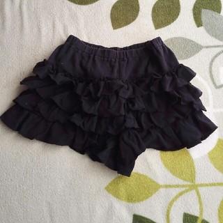イーストボーイ(EASTBOY)のお値下げ♪黒フリフリスカートズボン 130(スカート)