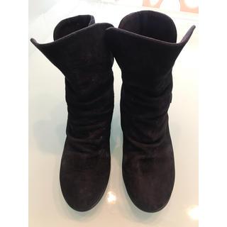 ダイアナ(DIANA)のダイアナ ウェルフィット  ショートブーツ 23.5 ブラック(ブーツ)