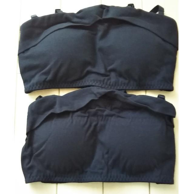 ベルメゾン(ベルメゾン)の新品!ジュニア ハーフトップ ブラ M 2枚セット キッズ/ベビー/マタニティのキッズ服 女の子用(90cm~)(下着)の商品写真