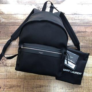 サンローラン(Saint Laurent)の新品 サンローラン  CITY キャンバス バックパック リュック ブラック(バッグパック/リュック)