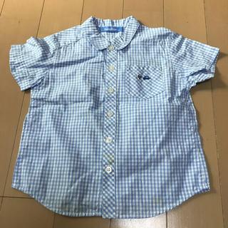 ファミリア(familiar)のファミリア 110㎝ 男の子用 水色 半袖シャツ(ブラウス)