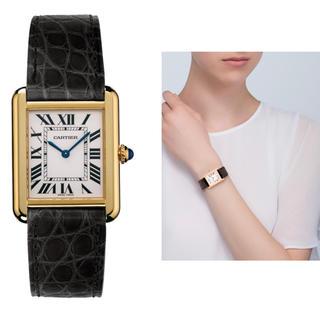 カルティエ(Cartier)の☆rika様専用☆ カルティエ タンクソロ イエローゴールド×スティール SM(腕時計)
