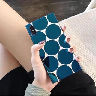 ミナペルホネン(mina perhonen)の新品 ドット柄 水玉 マリメッコ好きさんにも ミラー iPhoneケース(iPhoneケース)