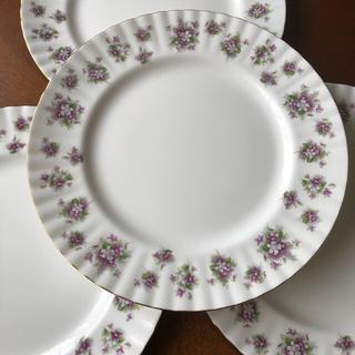 ロイヤルアルバート(ROYAL ALBERT)の「スィートバイオレット」ディナー皿3枚(食器)