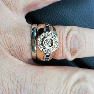 ダイヤモンドとサファイアのゴールドリング(リング(指輪))
