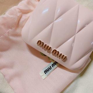 ミュウミュウ(miumiu)のお値下げ❗️ミュウミュウ レア品ノベルティーミラー 鏡 ピンク 新品(ミラー)