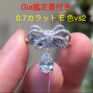 Giaリボン揺ら揺ら白ダイヤモンドリング(リング(指輪))