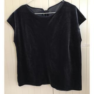 ジーユー(GU)のGU ベロア半袖(シャツ/ブラウス(半袖/袖なし))