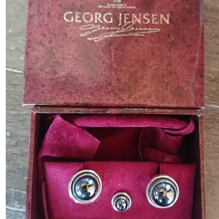 ジョージジェンセン(Georg Jensen)のジョージジェンセン44D ヘマタイト×シルバー925 カフス+タイピン セット(カフリンクス)