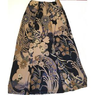 花柄 和柄 ロングスカート (ロングスカート)