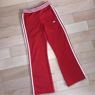 アディダス(adidas)のadidas ジャージ パンツ 赤 レッド 140(パンツ/スパッツ)