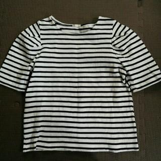 ジーユー(GU)のGU 五分袖ボーダーTシャツ(Tシャツ(長袖/七分))