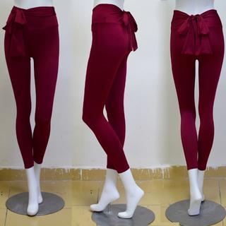 美尻 リボン フィットネス パンツ 吸汗速乾ジョギング トレーニング ヨガウェア(ヨガ)