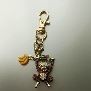 アビステ(ABISTE)のABISTE monkey&bananaストラップ♪(ストラップ/イヤホンジャック)