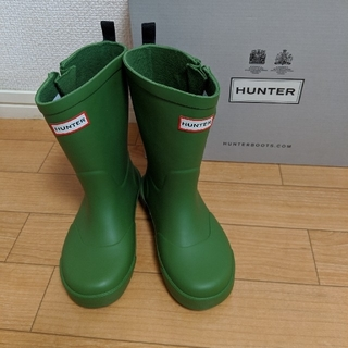 ハンター(HUNTER)のHUNTER キッズレインブーツ UK10(長靴/レインシューズ)