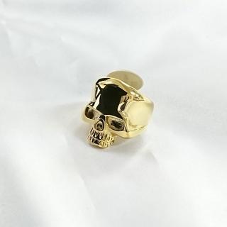 ☆ステンレスでできたスカルリング ゴールド 1480円(リング(指輪))